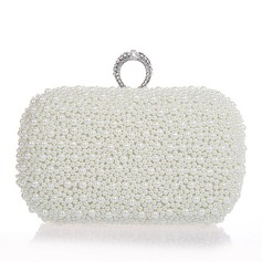 Elegant Pearl With Rhinestone Clutches