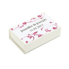 Personalized Floral Design Hard Card Paper Matchboxes