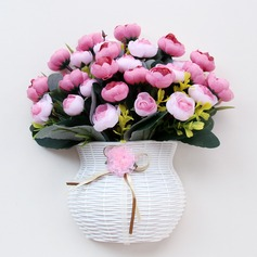 Vase Cloth/Plastic/Silk Flower Pretty Beautiful Table Centerpieces (The color of the flower on the vase is random)