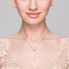 Charming 925 silver and chain With Pearl Necklaces