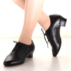 Mulheres Couro Saltos Treino Sapatos de dança