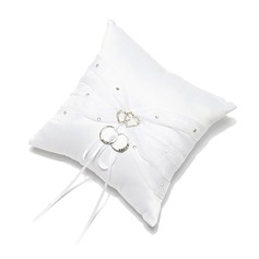 Ring Pillow in Satin With Rhinestones (103018248)