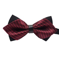 Stripe Polyester Bow Tie