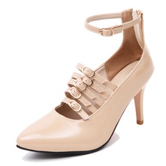 Women's Leatherette Stiletto Heel Pumps With Buckle shoes