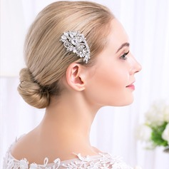 Ladies Magnificent Alloy Combs & Barrettes With Crystal