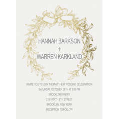 Flawless Garland Wedding Cards