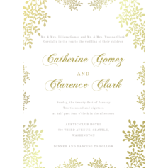 Glowing Willow Wedding Cards