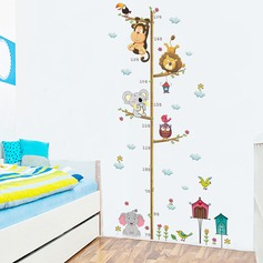 DIY elephant lion decal wallpaper height sticker (Sold in a single piece)