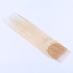 """4""""*4"""" 5A Virgin/remy Straight Human Hair Closure (Sold in a single piece) 100g"""