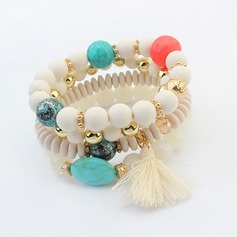 Nice Alloy Acrylic With Tassels Ladies' Fashion Bracelets