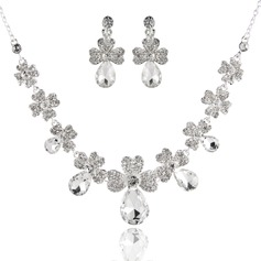 Simple Alloy With Rhinestone Ladies' Jewelry Sets