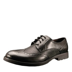 Men's Real Leather Lace-up Brogue Dress Shoes Men's Oxfords