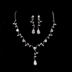 Elegant Alloy/Zircon With Cubic Zirconia Ladies' Jewelry Sets (011144886)