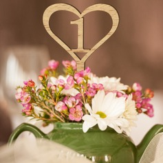 "Heart Shaped/""Fantasy Time"" Heart Shaped Wooden Table Number Cards"