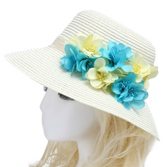 Nice Imported Paper/Rattan Straw Flowers & Feathers