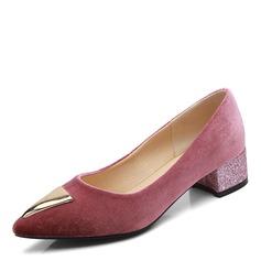 Donna Camoscio Tacco basso Ballerine con Rivet scarpe