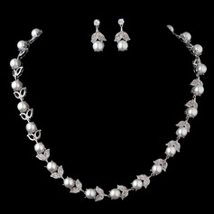 Chic Pearl/Zircon Ladies' Jewelry Sets