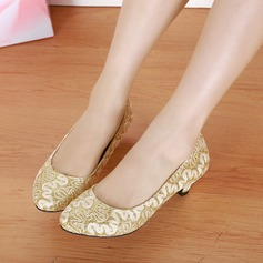 Women's Lace Low Heel Pumps