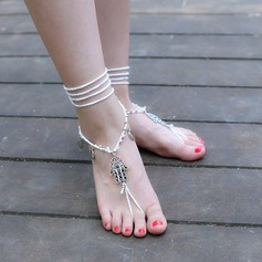 Alloy Chinlon Foot Jewellery (Set of 2)