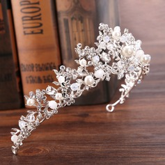 Ladies Elegant Rhinestone/Alloy/Imitation Pearls Tiaras With Rhinestone/Venetian Pearl