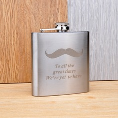 Personalized Moustache Stainless Steel Flask