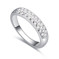 Shining Alloy/Crystal With Crystal Rings