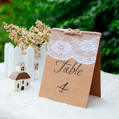 Rectangular Lint/Kraft Paper Table Number Cards