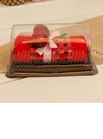 Bamboo fiber lovely cherry Cheesecake Towel Wash Cloth Return Gift(Sold in a single piece)