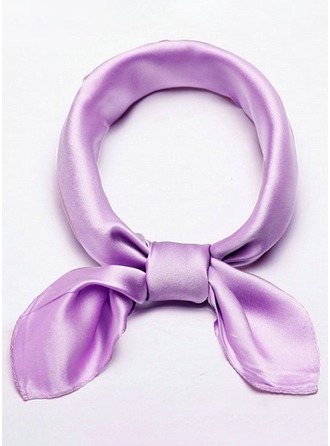 Solid Color Neck/Light Weight/attractive Silk Square scarf
