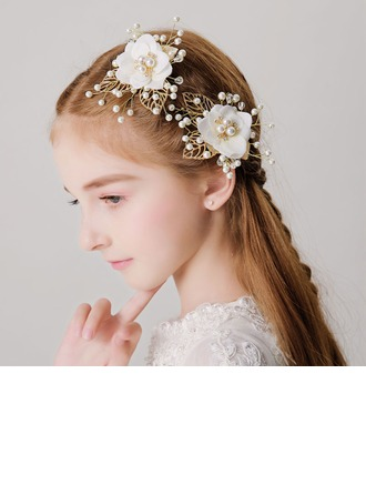 With Imitation Pearls/Flower Hairpins (Set of 2)