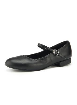 Women's Leatherette Flats Practice Dance Shoes