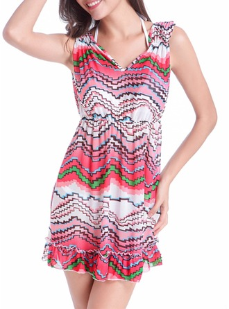 Bella Floreale Poliestere Dello spandex Cover-up