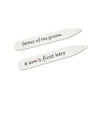 Collar Stays Modern Classic Fashion Stainless Steel Attractive Elegant (Set of 2) Gifts