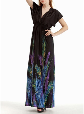 Viscose With Print Maxi Dress