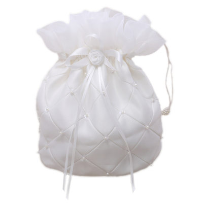Bridesmaid Gifts - Elegant Vintage Satin Imitation Pearls Bag