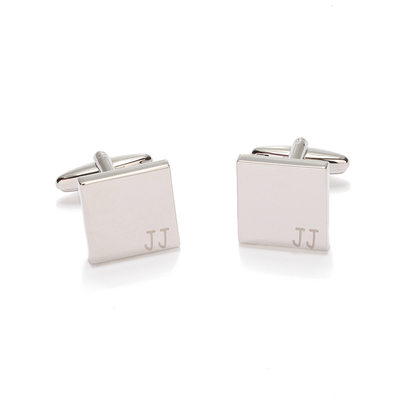 Personalized Classic Copper White Steel Plated Cufflinks (Set of pairs)
