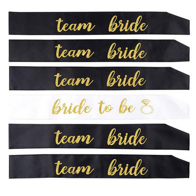 Bridesmaid Gifts - Elegant Satin Sash (Set of 6)