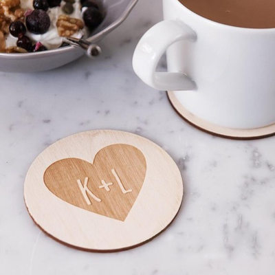 Groom Gifts - Personalized Classic Wooden Coaster
