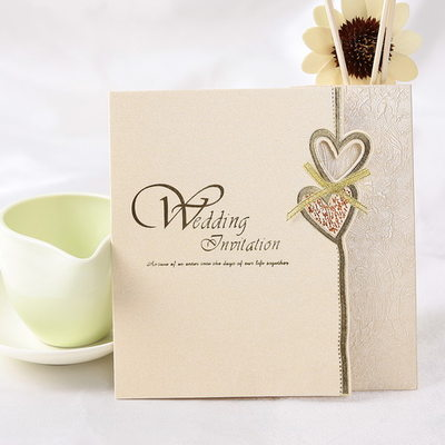 стиль сердца Z-Fold Invitation Cards