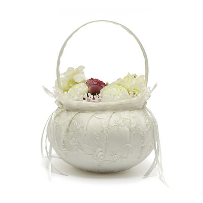 Bridesmaid Gifts - Classic Elegant Fashion Vintage Satin Flower Basket