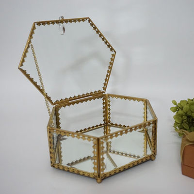 Bride Gifts - Vintage Glass Alloy Jewelry Box