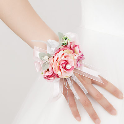Bridesmaid Gifts - Fashion Vintage Satin Wrist Corsage