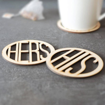 Groom Gifts - Elegant Wooden Coaster