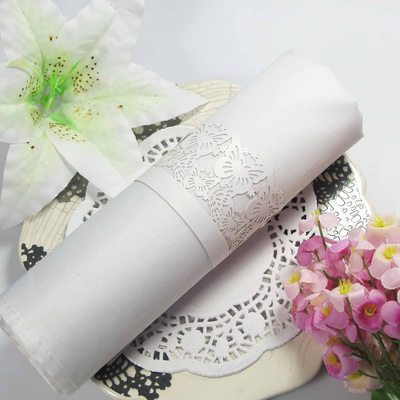 Bridesmaid Gifts - Elegant Pearl Paper Napkin Ring (Set of 12)
