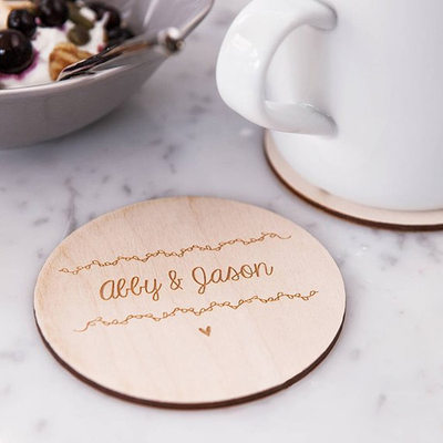 Groom Gifts - Personalized Fashion Wooden Coaster