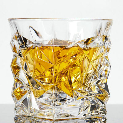 Groomsmen Gifts - Elegant Glass Whisky Glass (Set of 2)