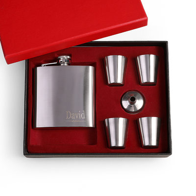 Groom Gifts - Personalized Classic Elegant Fashion Stainless Steel Flask
