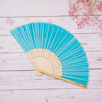 Bride Gifts - Personalized Beautiful Wooden Hand Fan