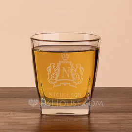 Groomsmen Gifts - Personalized Modern Glass Whisky Glass (258184543)