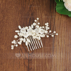 Ladies Glamourous Rhinestone/Imitation Pearls Combs & Barrettes (Sold in single piece) (042175972)